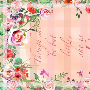 Small Baby Burp Cloth/Blanket Watercolor Roses