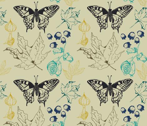 Fall fabric by fat_bird_designs on Spoonflower - custom fabric