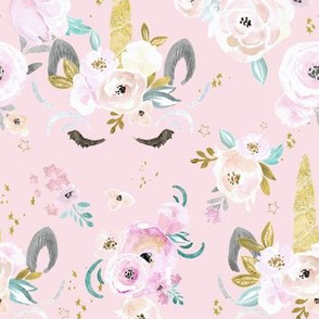 unicorn floral-light pink