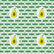 summer napkin in avocado