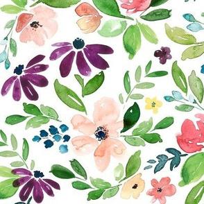 Watercolour Garden Floral