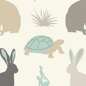 Tortoise & Hare - Aqua, Ivory