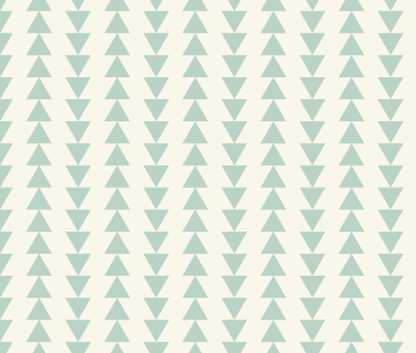 Arrows - Aqua, Ivory fabric by fernlesliestudio on Spoonflower - custom fabric