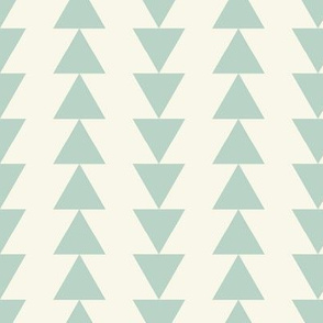 Arrows - Aqua, Ivory