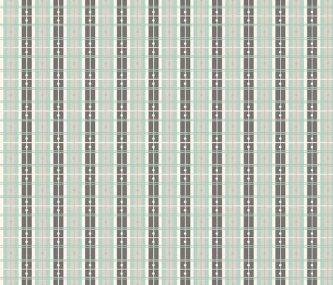 Plaid - Aqua, Ivory fabric by fernlesliestudio on Spoonflower - custom fabric