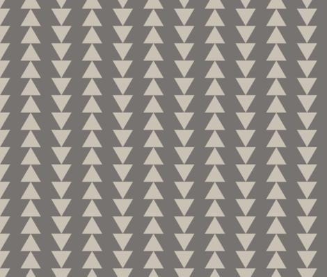 Arrows - Dark Neutral fabric by fernlesliestudio on Spoonflower - custom fabric