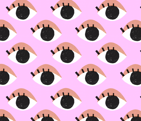 Eyes fabric by anda on Spoonflower - custom fabric