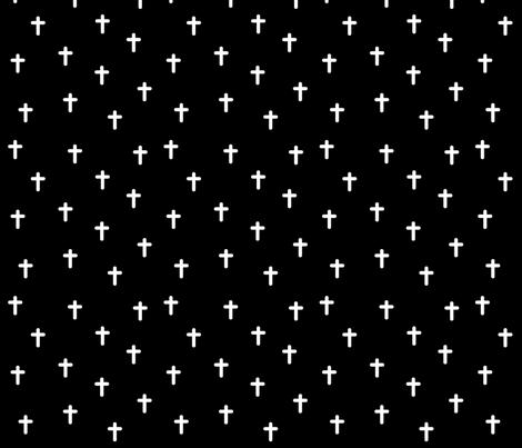 Crosses fabric by ireneflorentina on Spoonflower - custom fabric