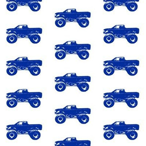 "2"" Blue Monster Trucks"