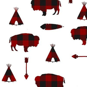 Buffalo Tribe // Red Check // Large