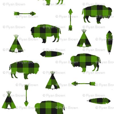 Buffalo Tribe // Green Check // Small
