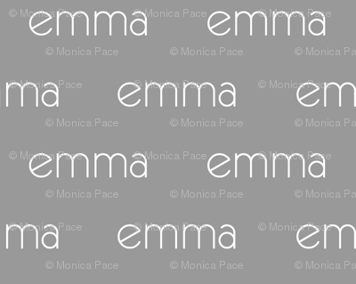 Personalized Baby Name Fabric - Emma