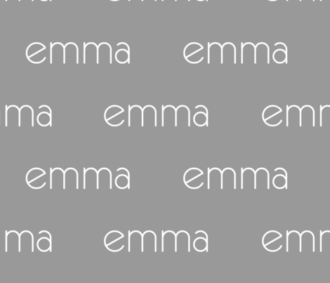 Personalized Baby Name Fabric - Emma fabric by monica_renee on Spoonflower - custom fabric
