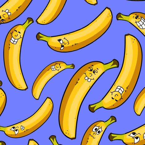 Banana pile - larger size fabric by sixsleekswans on Spoonflower - custom fabric