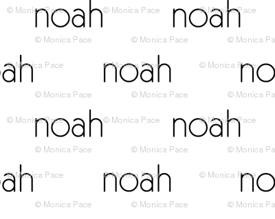 Personalized Baby Name Fabric - Noah