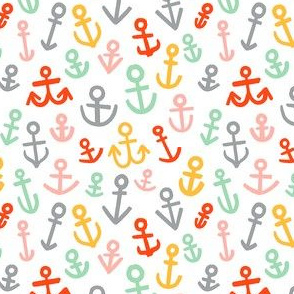 Anchors , Candy Colors (Medium Size)