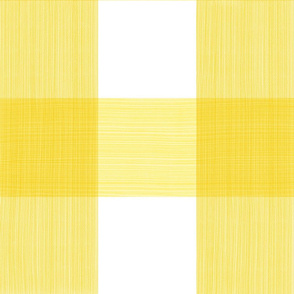 "Bold Yellow 6"" Buffalo Plaid"