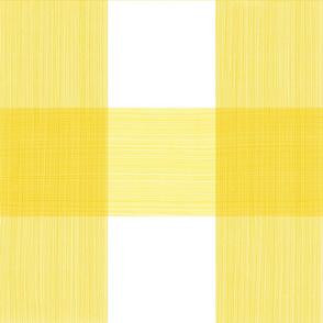"""Bold Yellow 6"""" Buffalo Plaid"""