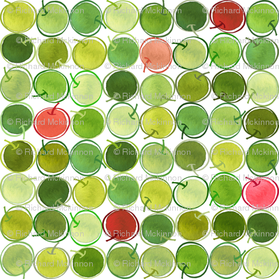Outline Apples 6x6