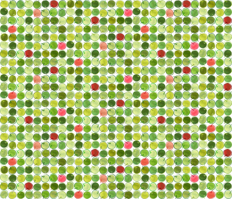Outline Apples 6x6 fabric by stitchyrichie on Spoonflower - custom fabric