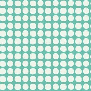 Lattice Turquoise and Mint Cream