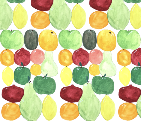 Colorful Fruit fabric by roney_designs on Spoonflower - custom fabric
