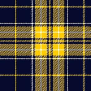 "MacLeod snuffbox tartan, yellow-navy variant, 6"""