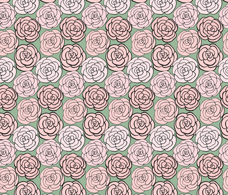 Rose Garden fabric by charladraws on Spoonflower - custom fabric