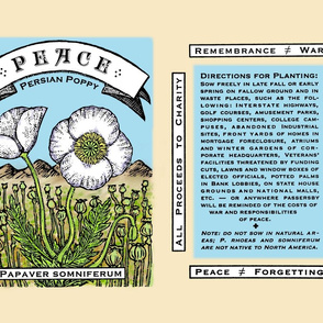 Peace Poppy Seed Packet