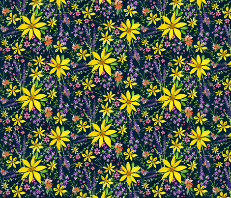 wildflower_pattern-ed fabric by alexis_johnson on Spoonflower - custom fabric
