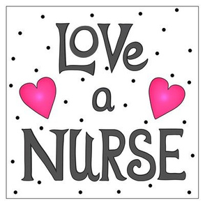Love a Nurse 8 inch Block Charcoal Gray