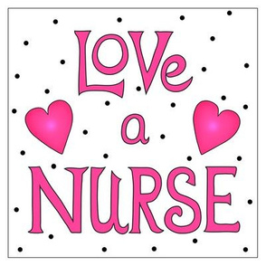 Love a Nurse 8 inch Block Pink