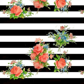 Black Stripes & Roses