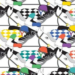 Horse Race white