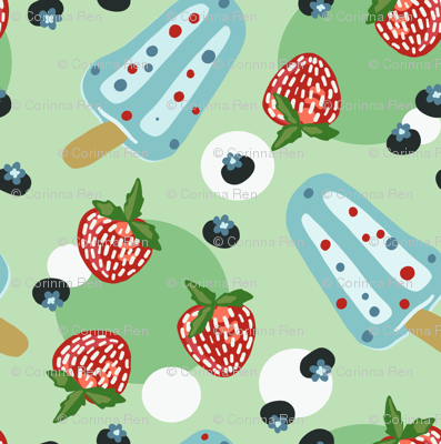 Summer Cookout with Refreshing Berries and Popsicles