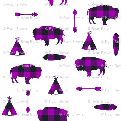 Buffalo Tribe // Purple Check // Large