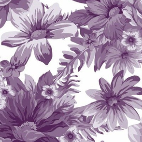 Vintage Dream Aubergine White