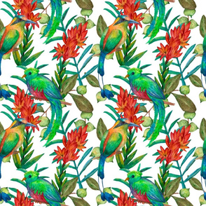 Tropical bright floral seamless pattern