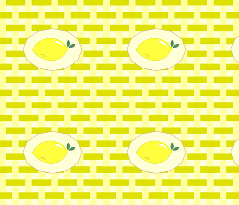 summer napkin in citron fabric by sofsdesigns on Spoonflower - custom fabric