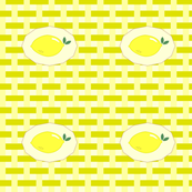 summer napkin in citron