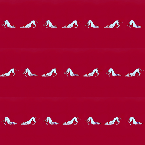 White_Greyhounds_RipRust-for_Leads or small collars-ed fabric by cloudsong_art on Spoonflower - custom fabric