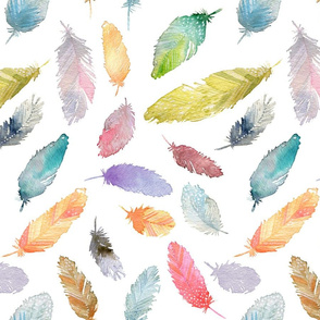 Corfee-Watercolor Feathers
