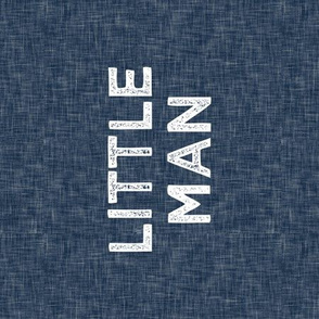"9"" Little Man Quilt Block - Navy"