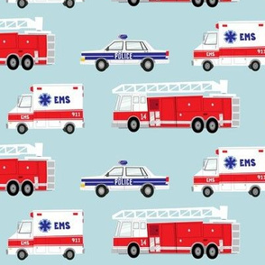 first responders vechicles (blue)  C18BS