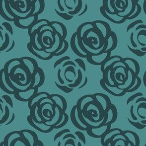Horse Races Teal Roses