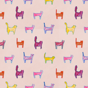 Funky Cool Cats in Pink