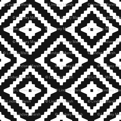 Boho Aztec Black & White