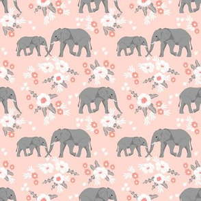 safari quilt pink elephants with florals animals nursery cute coordinate