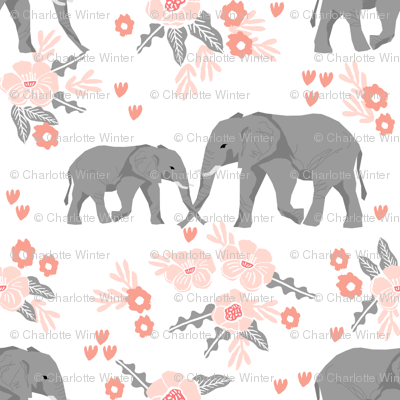 safari quilt elephants with florals animals nursery cute coordinate