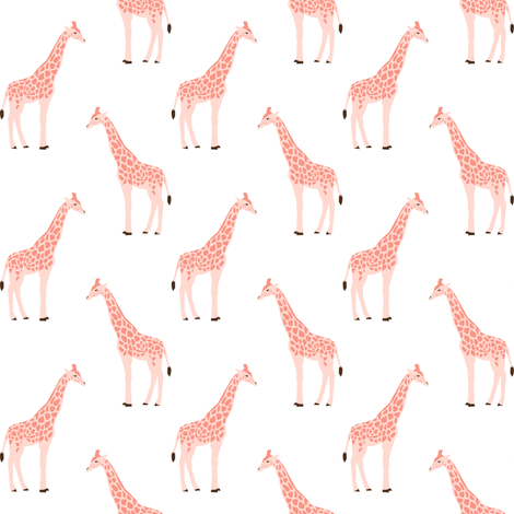 safari quilt pink giraffes animals nursery cute coordinate  fabric by charlottewinter on Spoonflower - custom fabric